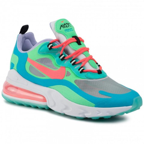 Bestes Angebot Für Nike Schuhe Air Max 270 React AT6174 300 Electro Green/Flash Crimson