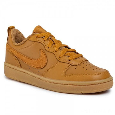 Bestes Angebot Für Nike Schuhe Court Borough Low 2 (Gs) BQ5448 700 Wheat/Wheat Gum/Light Brown